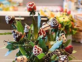 bouquet di fragole e cioccolato